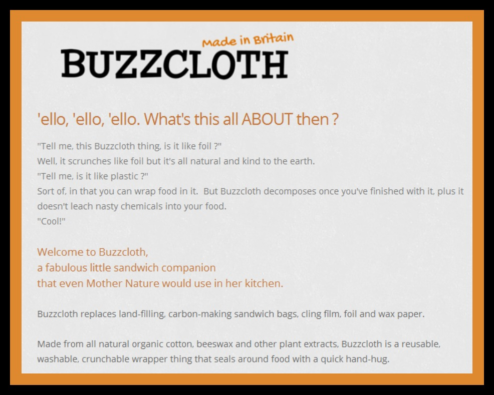 review of buzzcloth eco-friendly food wrap