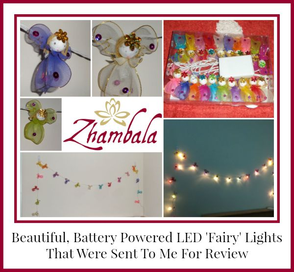 review of battery powered LED fairy lights from Zhambala