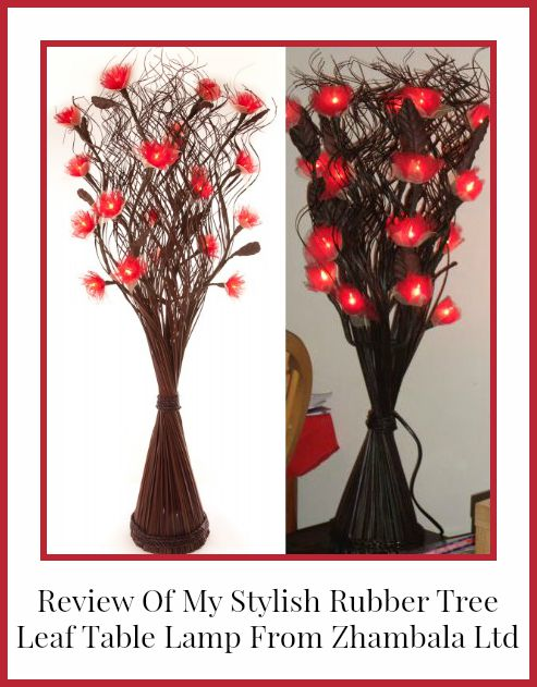 review of my rubber tree leaf table lamp from Zhambala