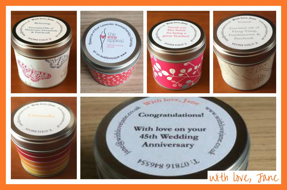 review of with love, jane aromatherapy candles and wax shavings