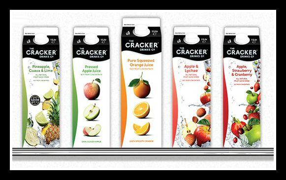 cracker drinks juice