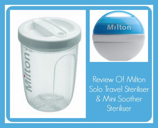 Review Of Milton Solo Travel Steriliser & Mini Soother Steriliser