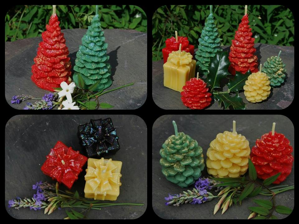 rainbow's end creations beeswax candles