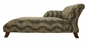 leopard print day bed