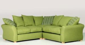 green corner sofa