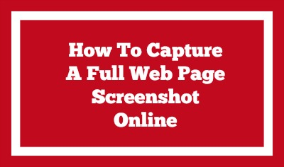 how to capture a full page web screenshot