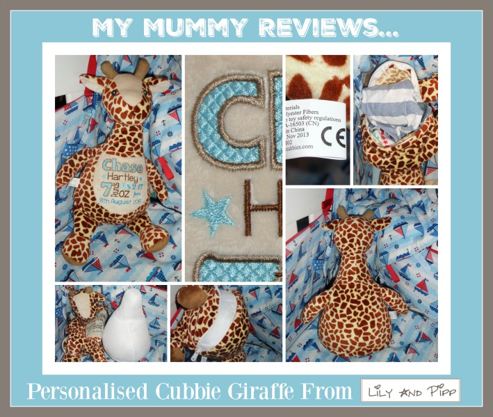 lily and pipp personalised cubbie stuffie giraffe review