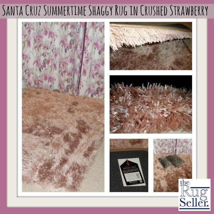 Santa Cruz Summertime Shaggy Rug in Crushed Strawberry from The Rug Seller