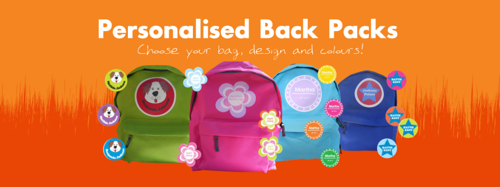 personalised rucksack for kids