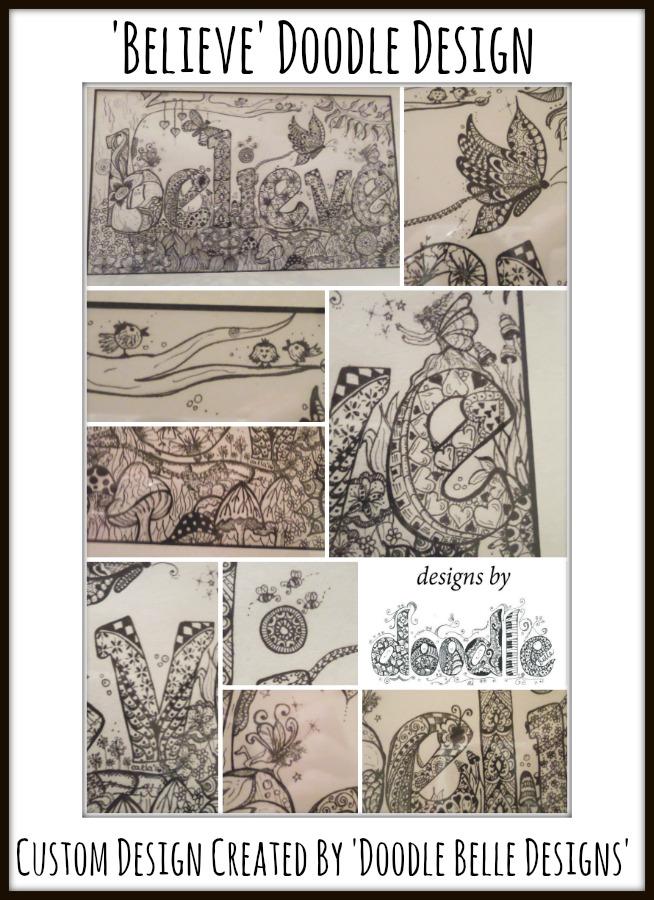 Believe Doodle Design