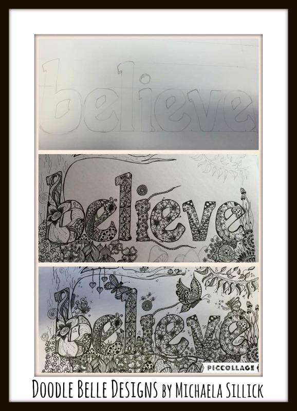 Believe Doodle Design 1