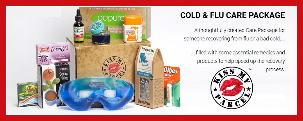 kiss my parcel cold & flu care package