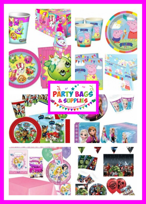 character themed party packs