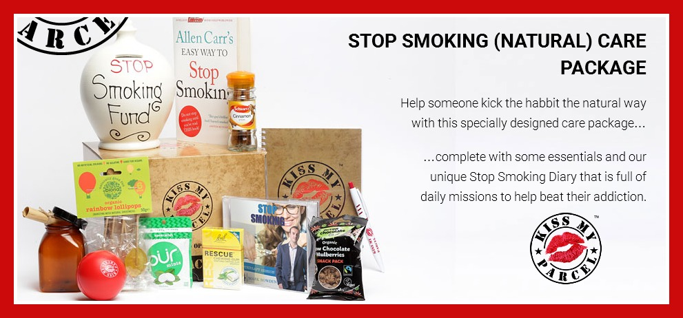 kiss my parcel stop smoking care package