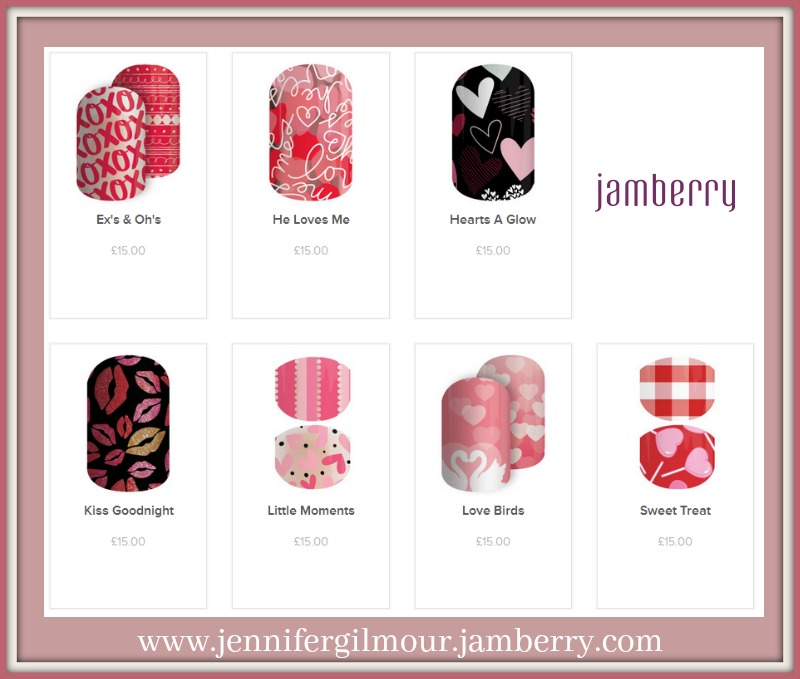 valentines day nail wraps