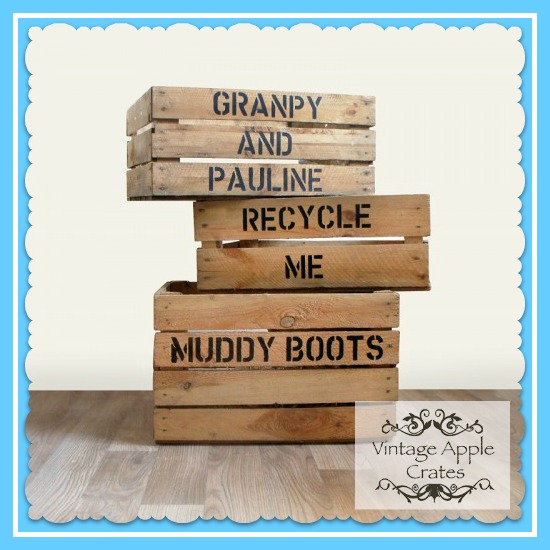 Personalised Stencilled Crate