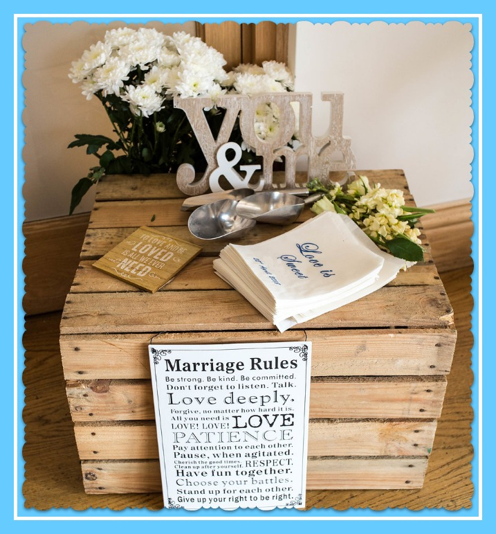 Wedding apple crate