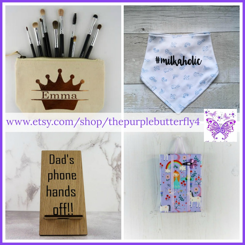 The Purple Butterfly Etsy