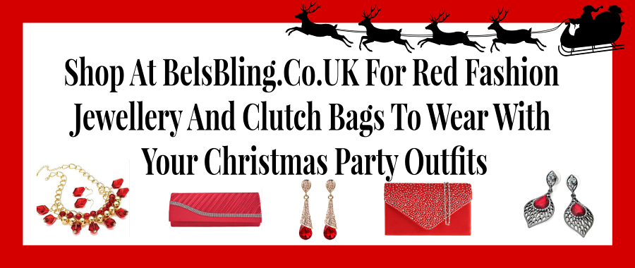 Red Fashion Jewellery And Clutch Bags To Wear With Your Christmas Party Outfitsv