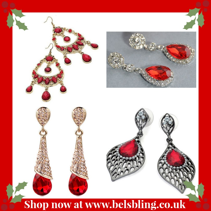 red earrings for Christmas