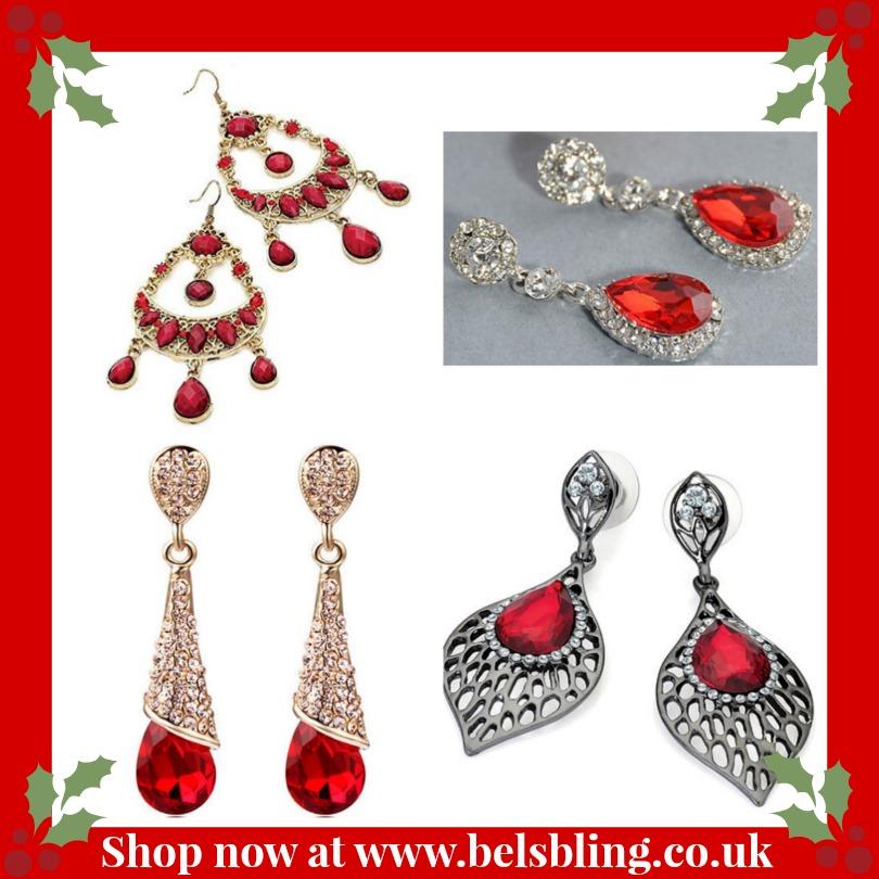 red earrings for Christmas