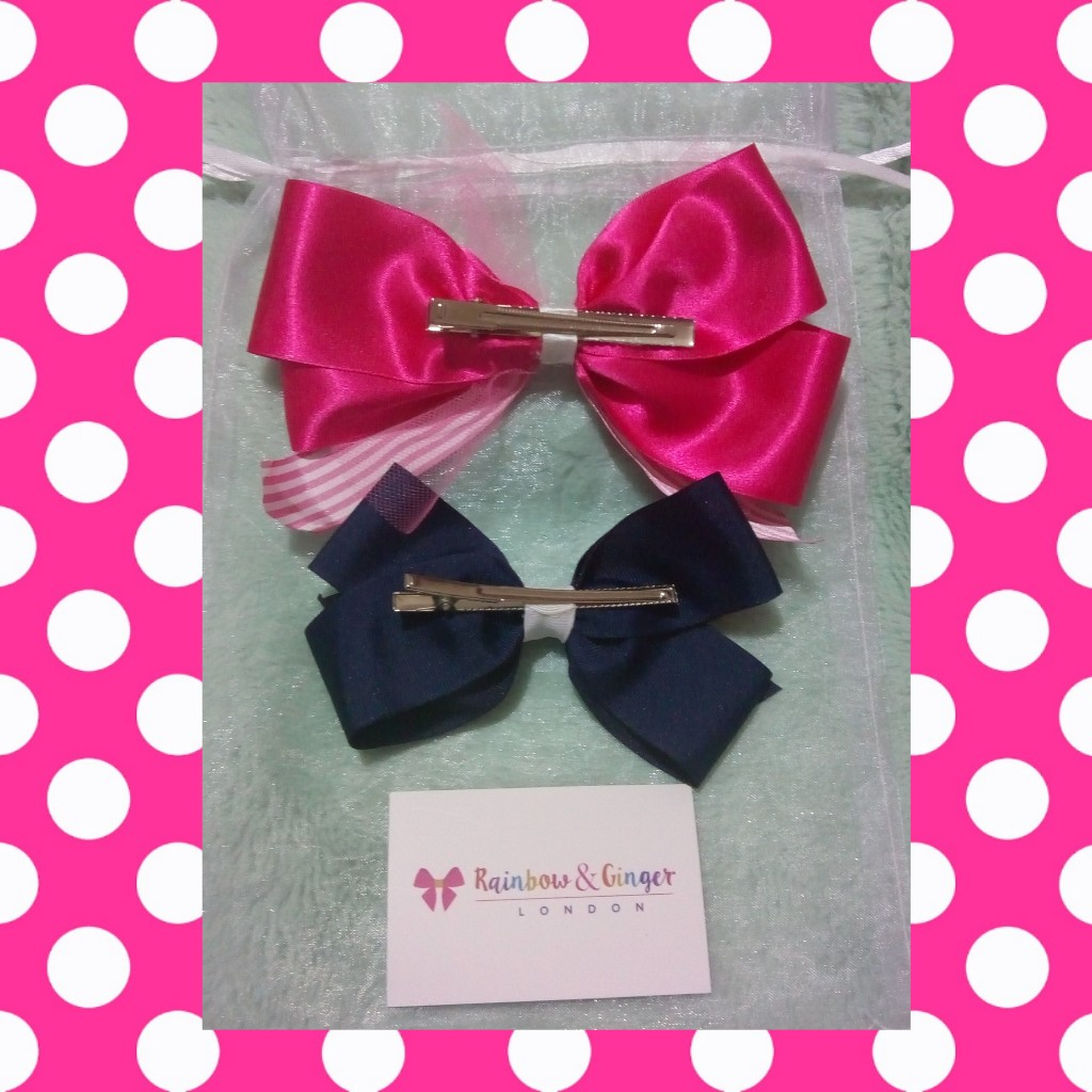 Review Of Beautiful Handmade Hair Bows From Rainbow & Ginger London