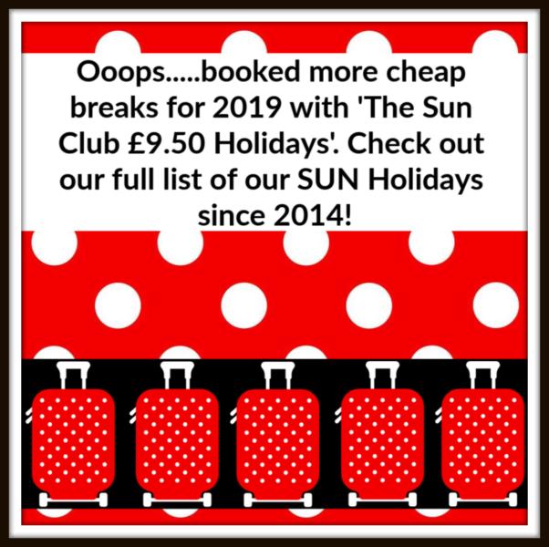 SUN holidays £9.50